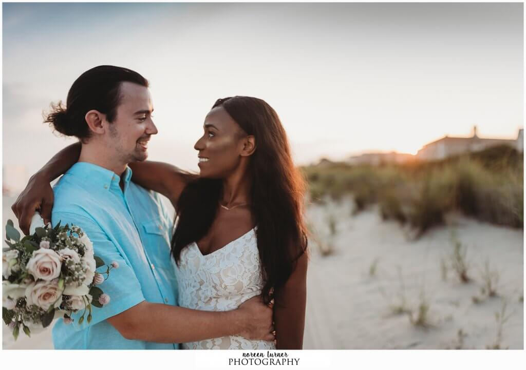 A gorgeous Cape May engagement session during sunset at Washington Street and the beach at Congress Hall.