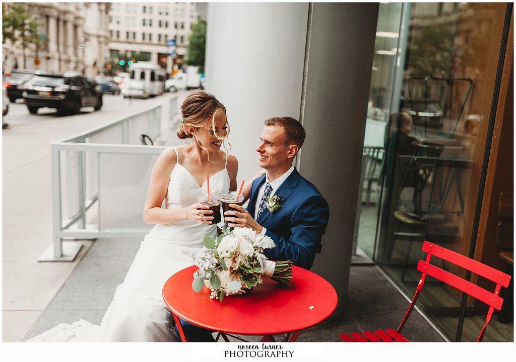Colonial Dames wedding in Rittenhouse Square Philadelphia and a stop at La Colombe
