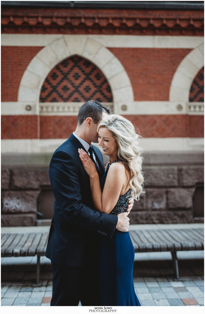 Del Frisco's Philadelphia formal engagement session by Noreen Turner Photography