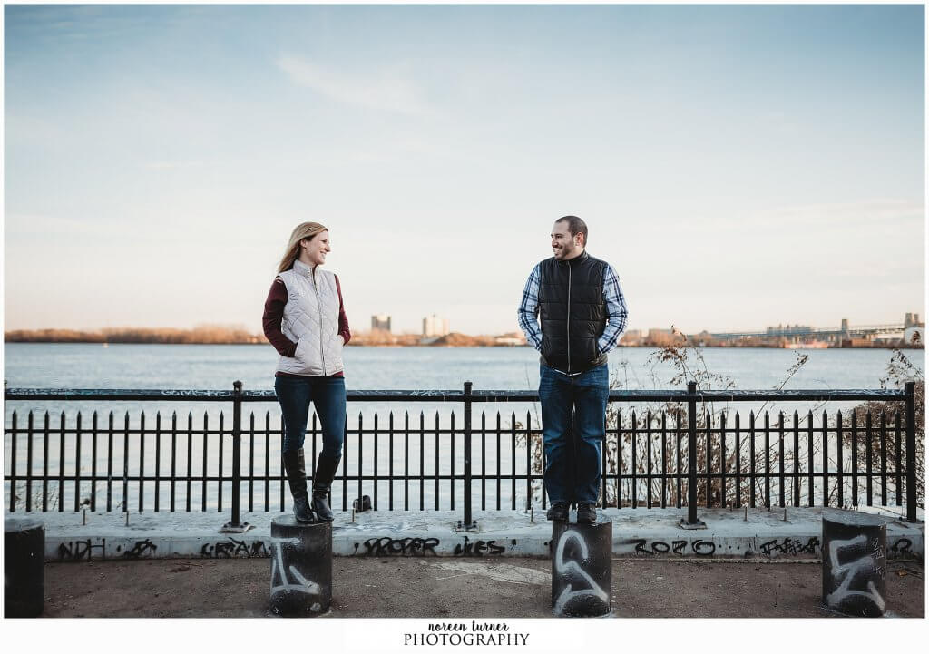 Northern Liberties engagement session and Penn Treaty Park by Noreen Turner Photography