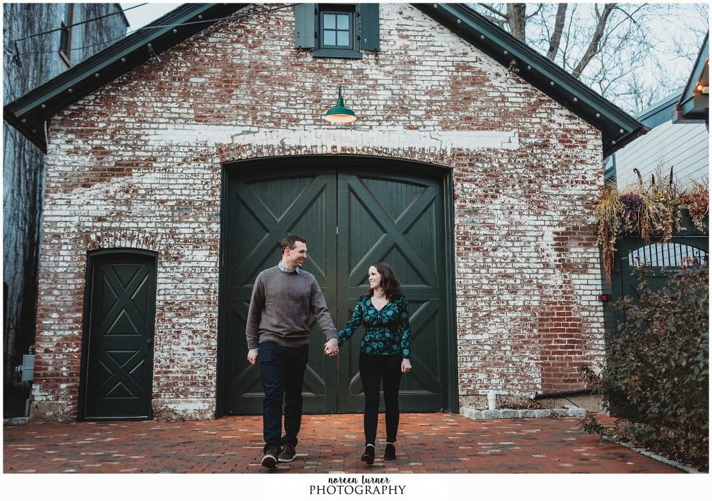 New Hope engagement session with the happy couple to be married at River House at Odette's in 2020