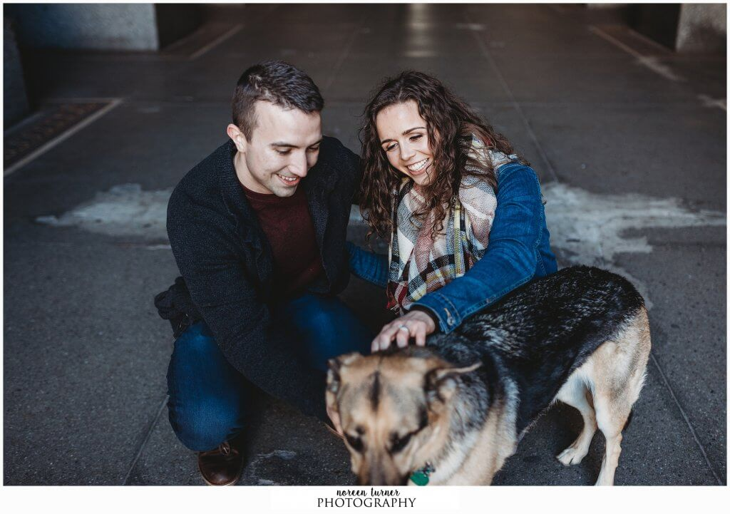 A chilly, fall, Philly engagement session at City Hall, Comcast Center, Broad Street, and Dilworth Park