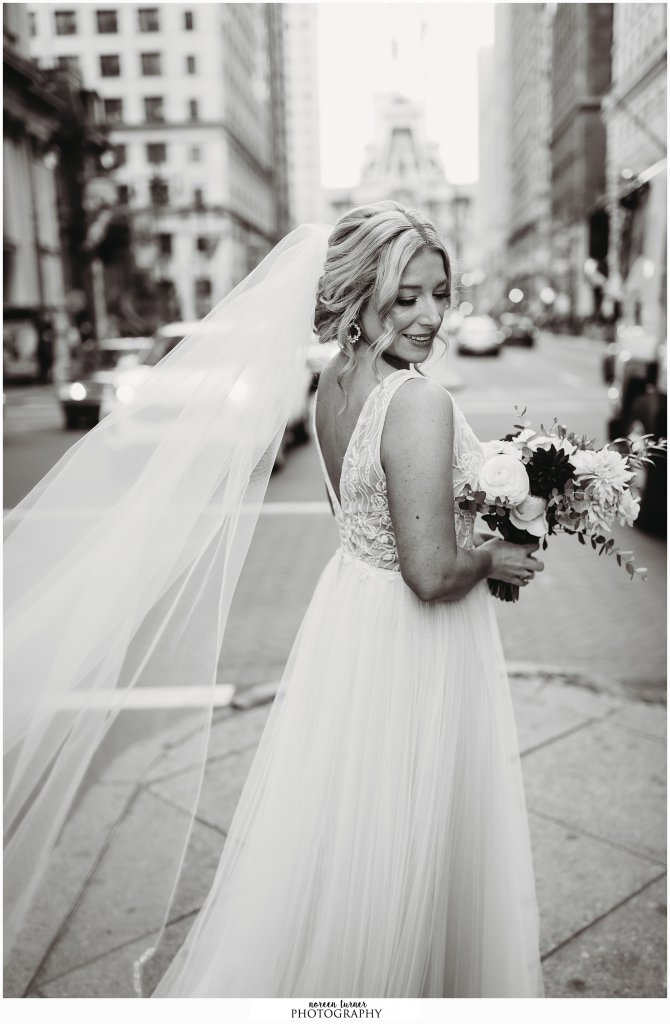 Hyatt at the Bellevue wedding in Philadelphia by Noreen Turner Photography, BHLDN, Whispers and Echoes
