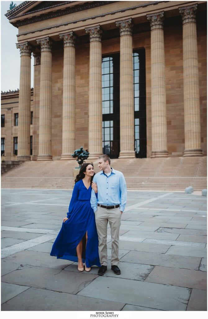 A wonderful winter art museum engagement session in Philadelphia.