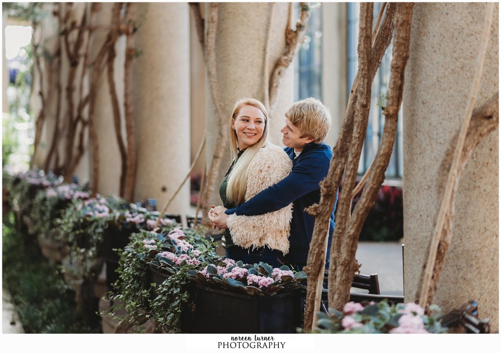 Longwood Gardens engagement session by Noreen Turner Photography