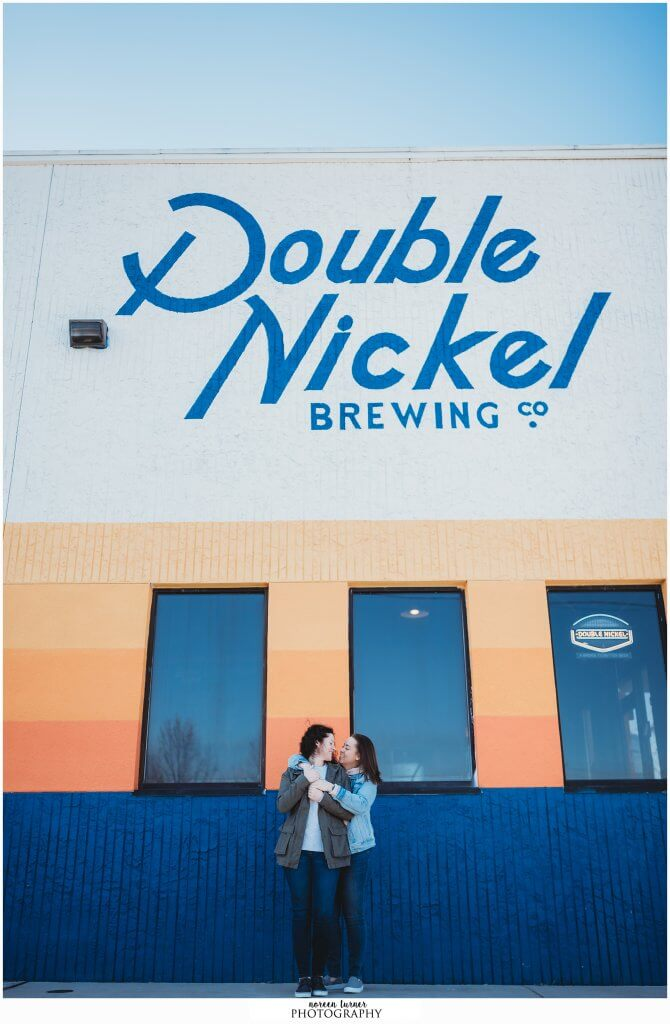 NJ Engagement session - lifestyle photography session at Double Nickel Brewery