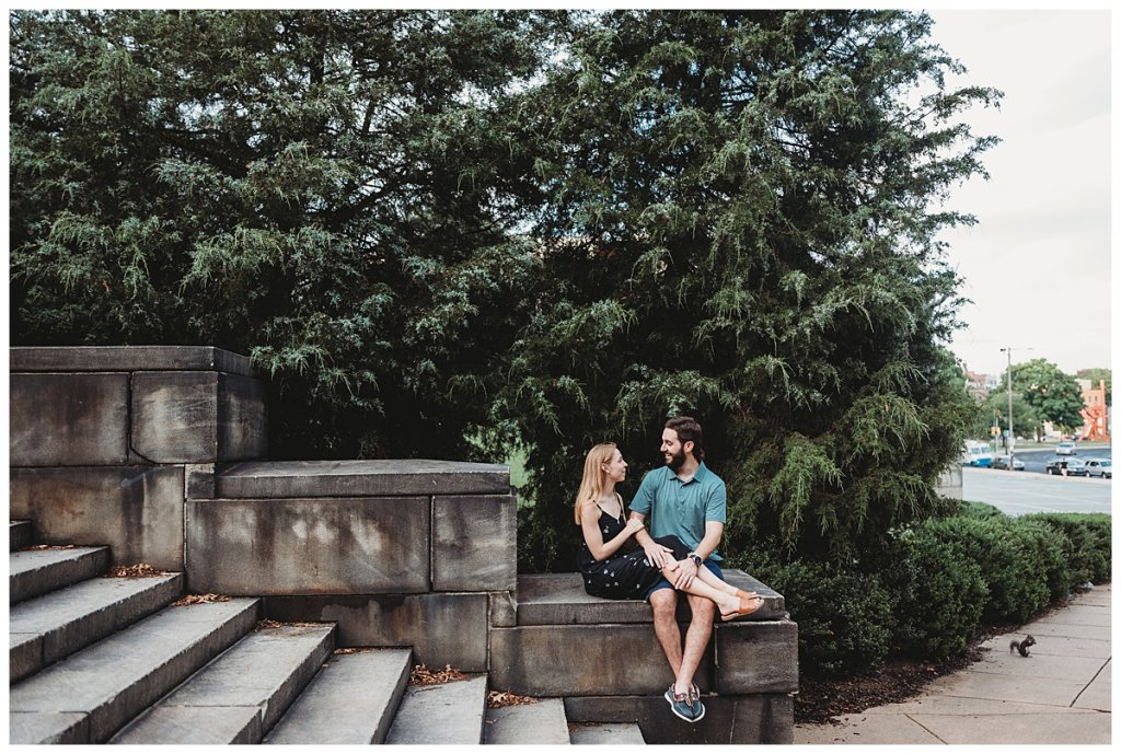Fairmount Park and Art Museum engagement session by Noreen Turner Photography