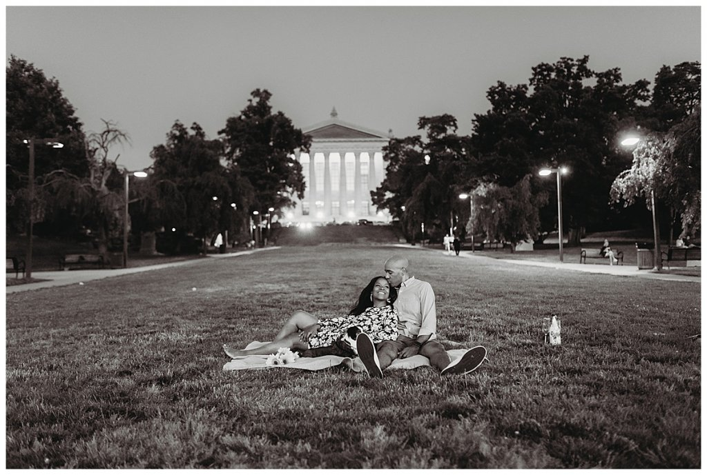 Philadelphia engagement session at the Museum of Art by Noreen Turner Photography