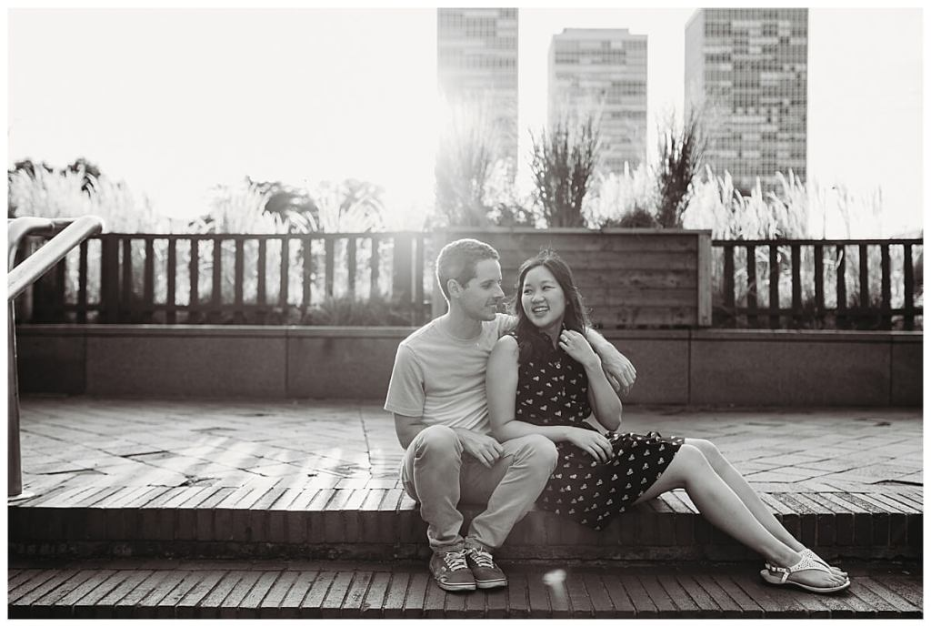 Delaware River Waterfront engagement session in the summer by Noreen Turner Photography