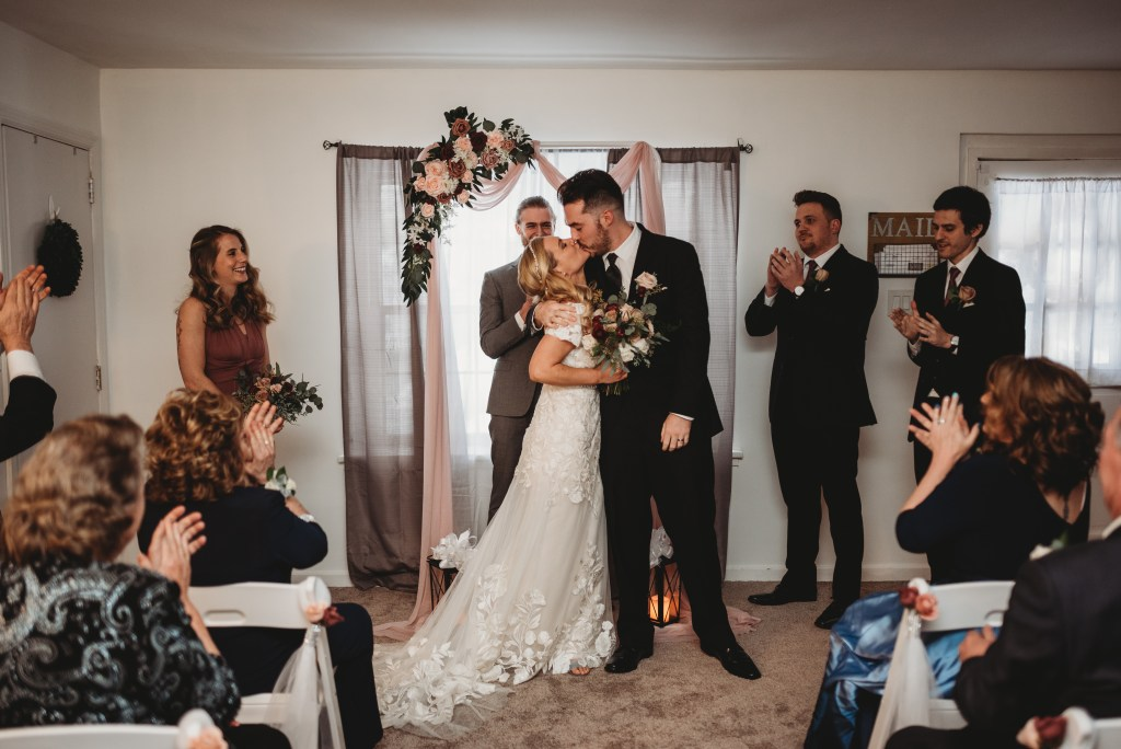 Winter wedding at a private residence by Noreen Turner Photography